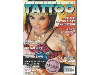 SCANDINAVIAN TATOO MAGAZINE NR 125.2012- FEMALE TATOO ART !