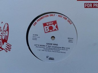 "Sadie Nine title* Lets Work It Out* House, Disco 12"" Promo SWE - Hägersten - Sadie Nine title* Let's Work It Out* House, Disco 12"" Promo SWE - Hägersten"