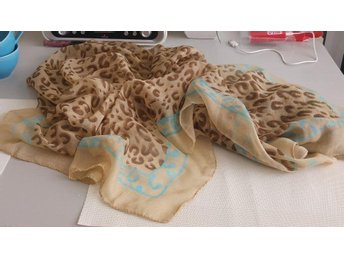 sarong scarf, sjal, leopard beige
