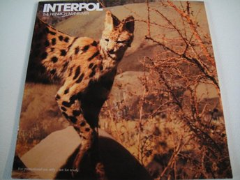 INTERPOL Heinrich maneuver PROMO CD SINGEL TOPPSKICK!!!