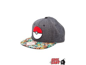 Pokemon Pokeball Snapback Keps Grå