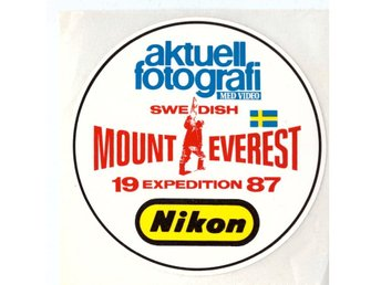 Nikon dekal/klistermärke - Mount Everest -87, ca 87 mm i diameter