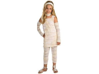 MUMMY-ISTA (8-10 år) MUMIE DRÄKT HALLOWEEN Tjejmodell Dress
