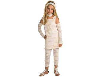 HALLOWEEN Mumiedress 8-10 år dress bandage mumie mummy