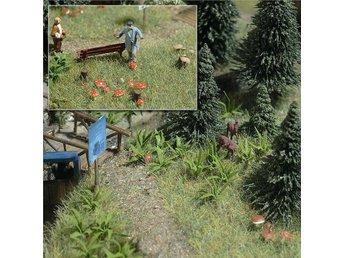 Busch 1203 - Svampar och ormbunkar - skala 1:87 - Munka-ljungby - Busch 1203 - Svampar och ormbunkar - skala 1:87 - Munka-ljungby