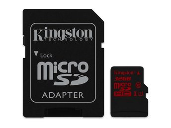 Kingston 32GB microSDHC UHS-I speed class 3 (U3) 90R/80W