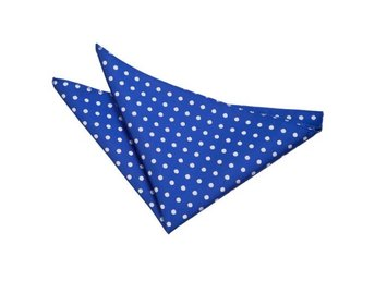 Blå (Royal blue) polka dot näsduk