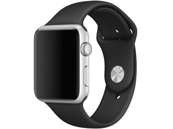 Silicon Band 38/40mm Apple Watch Armband - (BLACK)