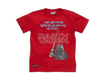 LEGO STAR WARS, T-SHIRT DARTH VADER, RÖD (128)