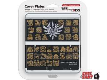 Nintendo New 3DS Cover Plates Monster Hunter 4 Ultimate Svart (023)