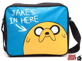 Adventure Time Jakes in Here Messenger Bag Blå & Svart