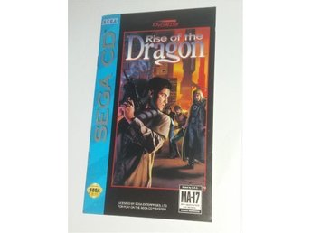 Rise of the Dragon - Sega CD - KOMPLETT - CIB - RARE SVÅR EFTERTRAKTAD