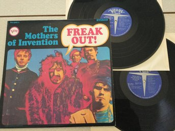 Lp Frank Zappa(Mothers)-Freak out rare US press på Verve