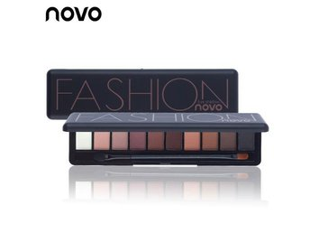 NOVO Brand Fashion 10 Colors Palette Matte Natural Eyeshadow, inkl borste