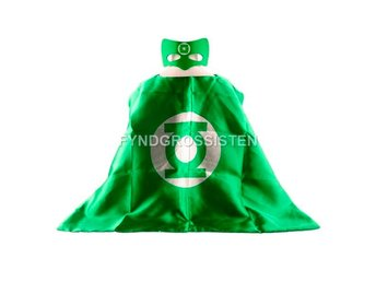 Mantel + Mask Green Lantern Fri Frakt Helt Ny