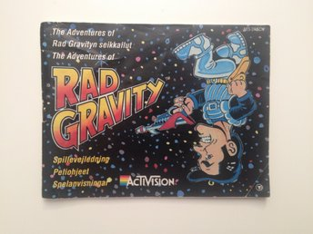 RAD GRAVITY - Nintendo Nes - Manual - SCN