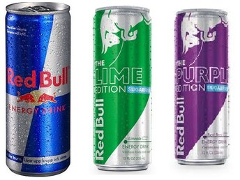 *REA* 33 BURKAR RED BULL ORIGINAL + GREEN EDITION LIME + PURPLE ACAI ENERGIDRYCK