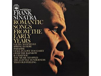 Frank Sinatra. Romantic Songs From The Early Years. Vinyl Music LP.