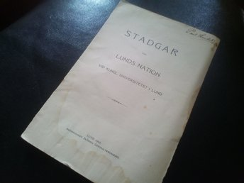 Stadgar Lunds Nation 1907