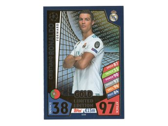 17-18 Topps Match Attax Champions League Limited Edition Gold Cristiano Ronaldo