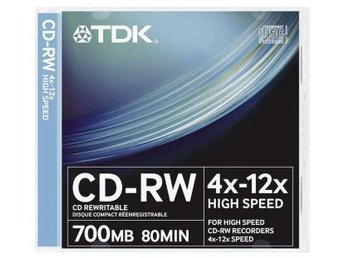 TDK CD-RW 4-12X 80min 10-pack JC