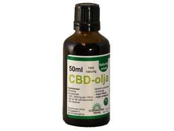 CBD olja 50 ml, 1000mg CBD