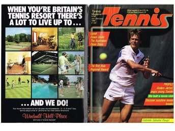 TENNIS MAGAZINE (UK) No 54 - Jan/Feb 1986 - Stefan Edberg