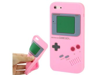 iPhone 5/5S Silikonskal Game Boy Rosa