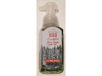 ICED EUCALYPTUS Bath Body Works Gentle Foaming Hand Soap skumtvål USA vinter