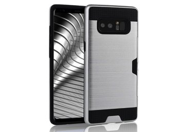 Skal till Samsung Galaxy Note 8 Brushed PC Fodral Skydd Silver Tunn Armor