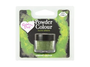 Rainbow Dust Ätbar Pulverfärg Olive Green Olive Grön Powder Colour RD0851