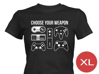 Choose Your Weapon T-Shirt Tröja Rolig Tshirt med tryck Svart DAM XL