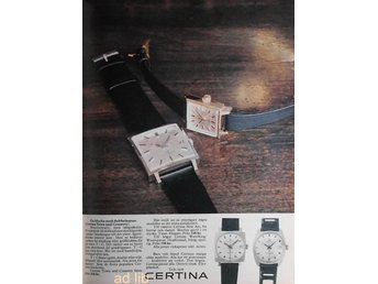 CERTINA - TOWN AND COUNTRY TIDNINGSANNONS Retro 1969