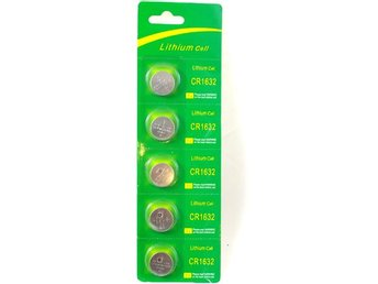 Knappcell Batteri CR1632 5-Pack