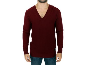 Karl Lagerfeld - Bordeaux v-neck pullover sweater