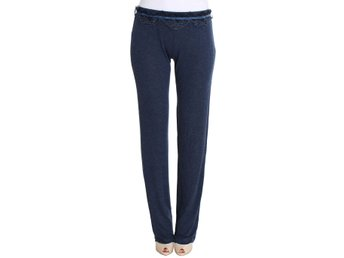 Ermanno Scervino - Blue Lace Detailed Casual Pants