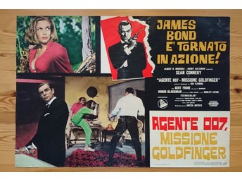 Ian Fleming - James Bond 007 / Sean Connery / Goldfinger OU 1964-65 Italiensk