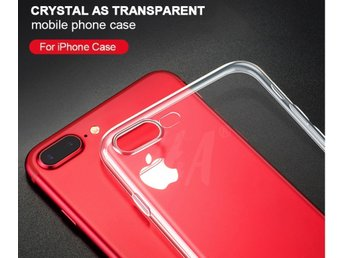 Silicone Case For iPhone 8 Cover Transparent Phone Back Soft TPU Protector Shell