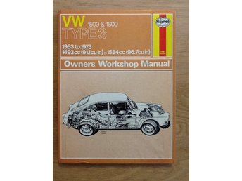 VW 1500 & 1600 typ3  1963 to 1973   Owners workshop manual