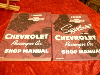1956 Chevrolet 2 del komplett set , Shop Manual , Verkstadshandbok , REPRO!!!!!