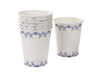 Pappersmuggar, Party Porcelain Blue