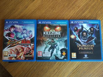 PS VITA SPEL : STREET FIGHTER X TEKKEN, DUNGEON HUNTER & KILLZONE- MERCENARY