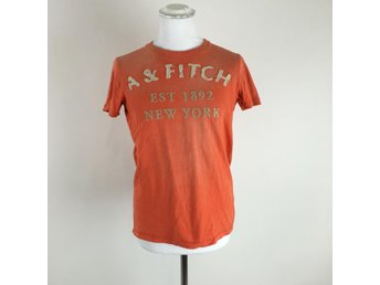 Abercrombie & Fitch, T-shirt, Muscle, Strl: S, Orange, Skick: Normalt