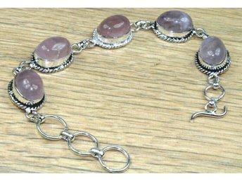 Unikt armband med rosenkvarts - Hässelby - Unikt armband med rosenkvarts - Hässelby
