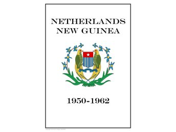 NETHERLANDS NEW GUINEA 1950-1962  PDF STAMP ALBUM PAGES INGA FRIMÄRKEN!!