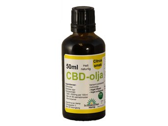 CBD olja Citrus 50 ml, 1000mg CBD