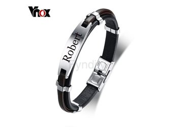 Armband Vnox Men's Free Engraving Customi Default Title
