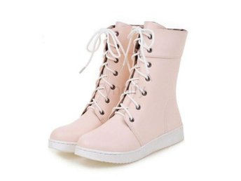 Dam Boots Warm Fur Martin Shoes Footwear Size 32-40 pink 39