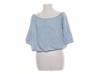 Mango, Blus, Strl: S/M, Off shoulder, Blå
