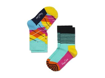 Happy Socks 2-pack barnstrumpor Argyle (7-9 år)